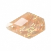 Resin Sew-on Dichroic Style 10 20x28mm Drop Apricot